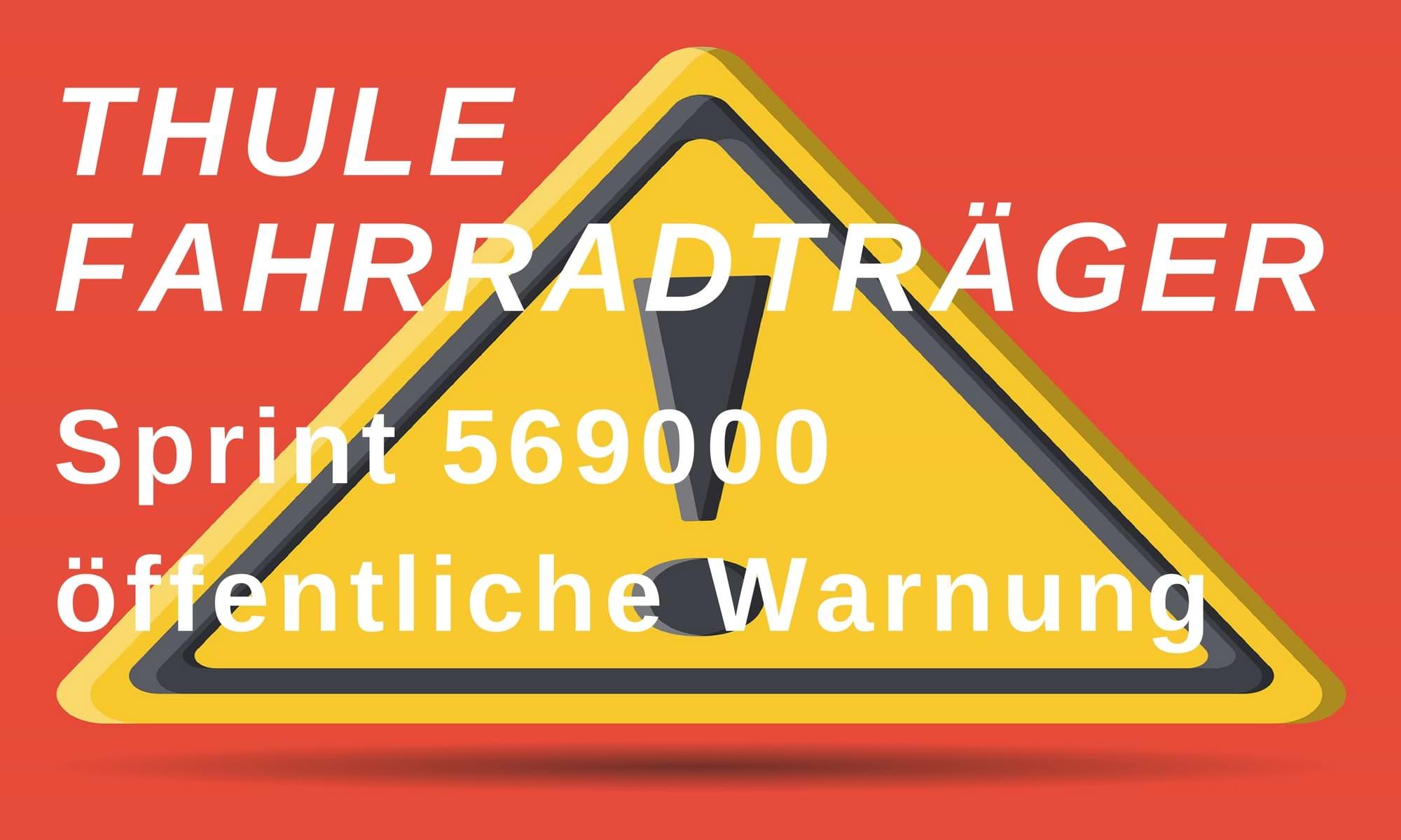 Thule Fahrradtraeger oeffentliche Warnung