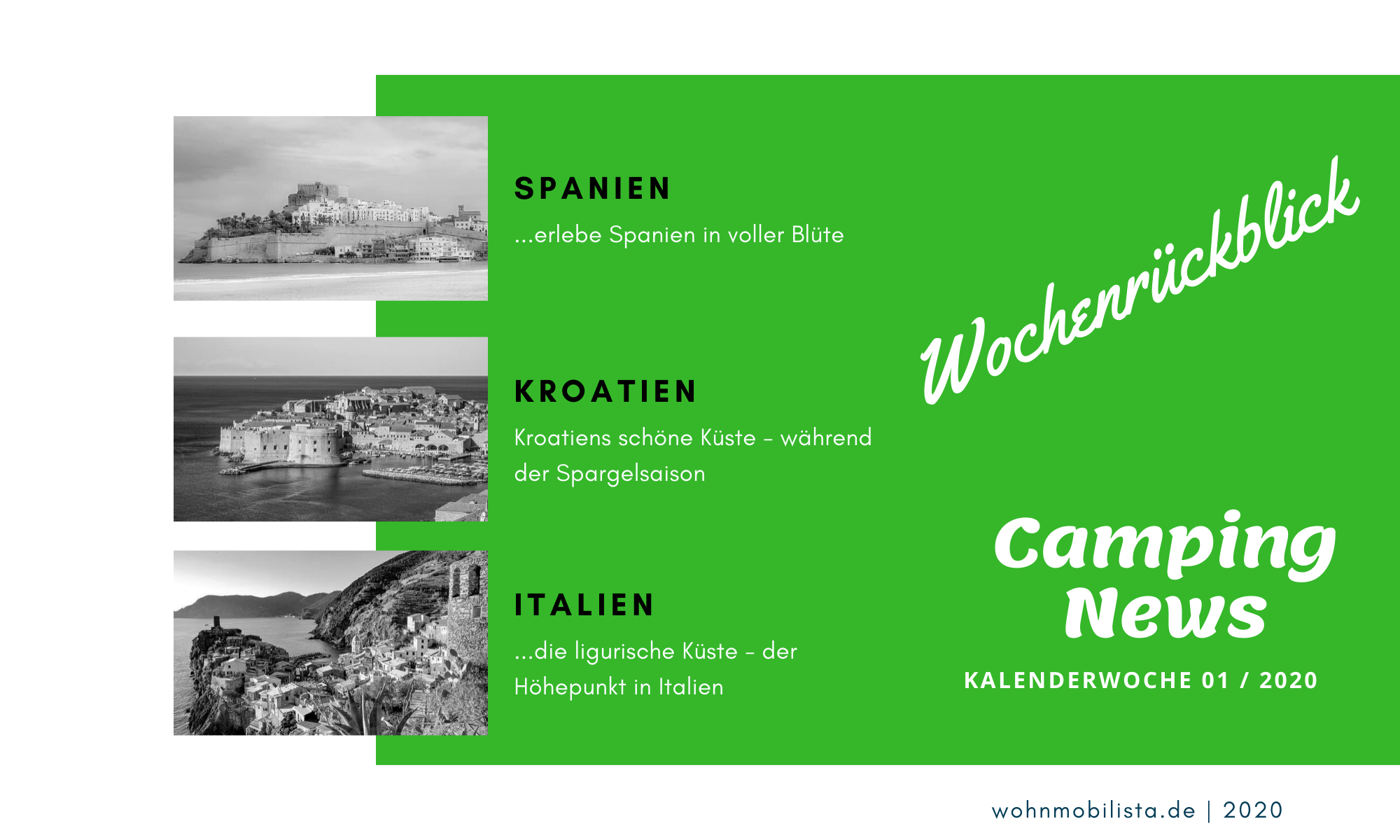 Wochenrückblick Camping News KW01-2020