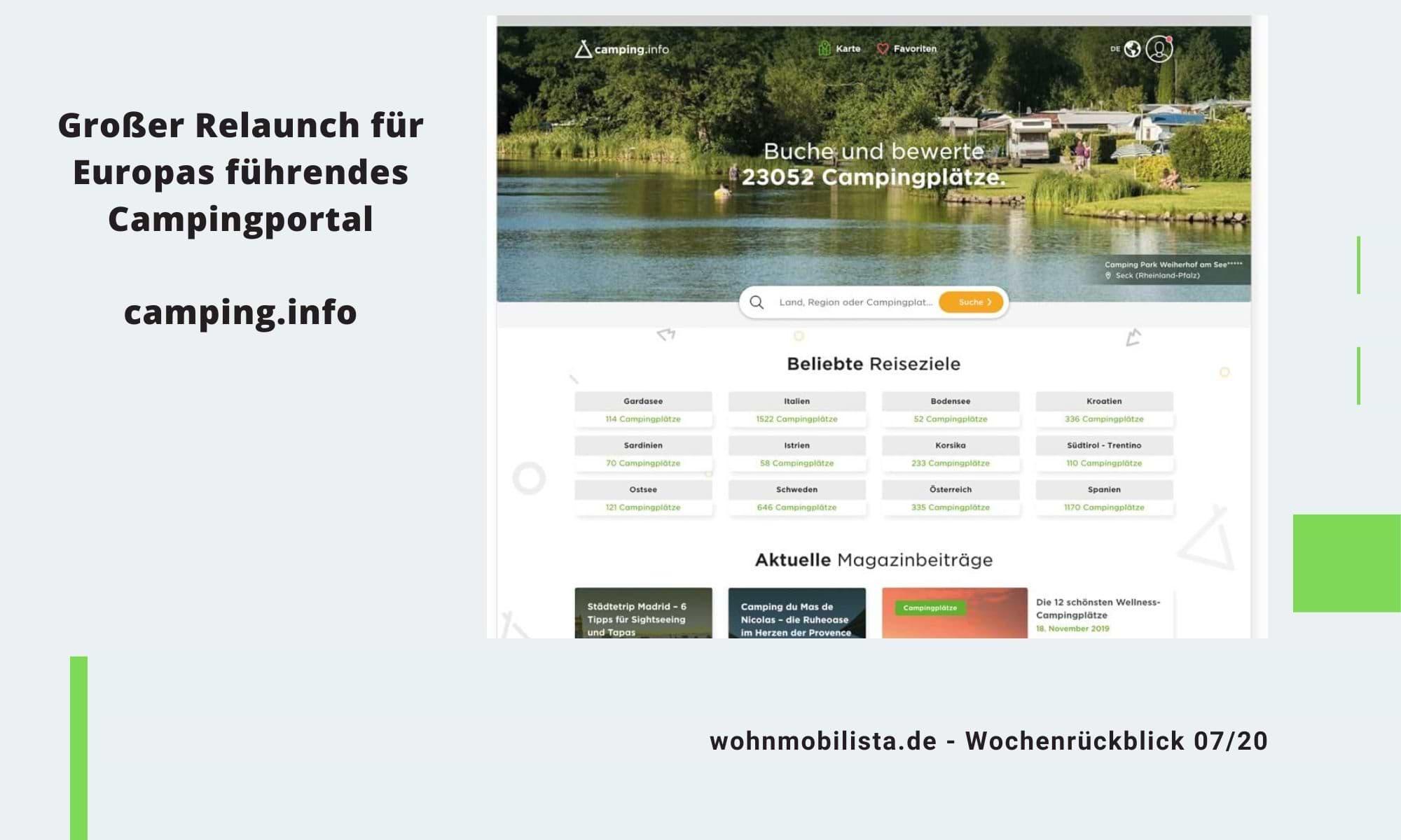 Wochenrückblick Camping News KW07-2020