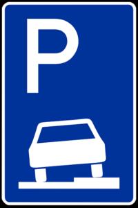 Parkplatz Schild 315 Verkehrszeichen