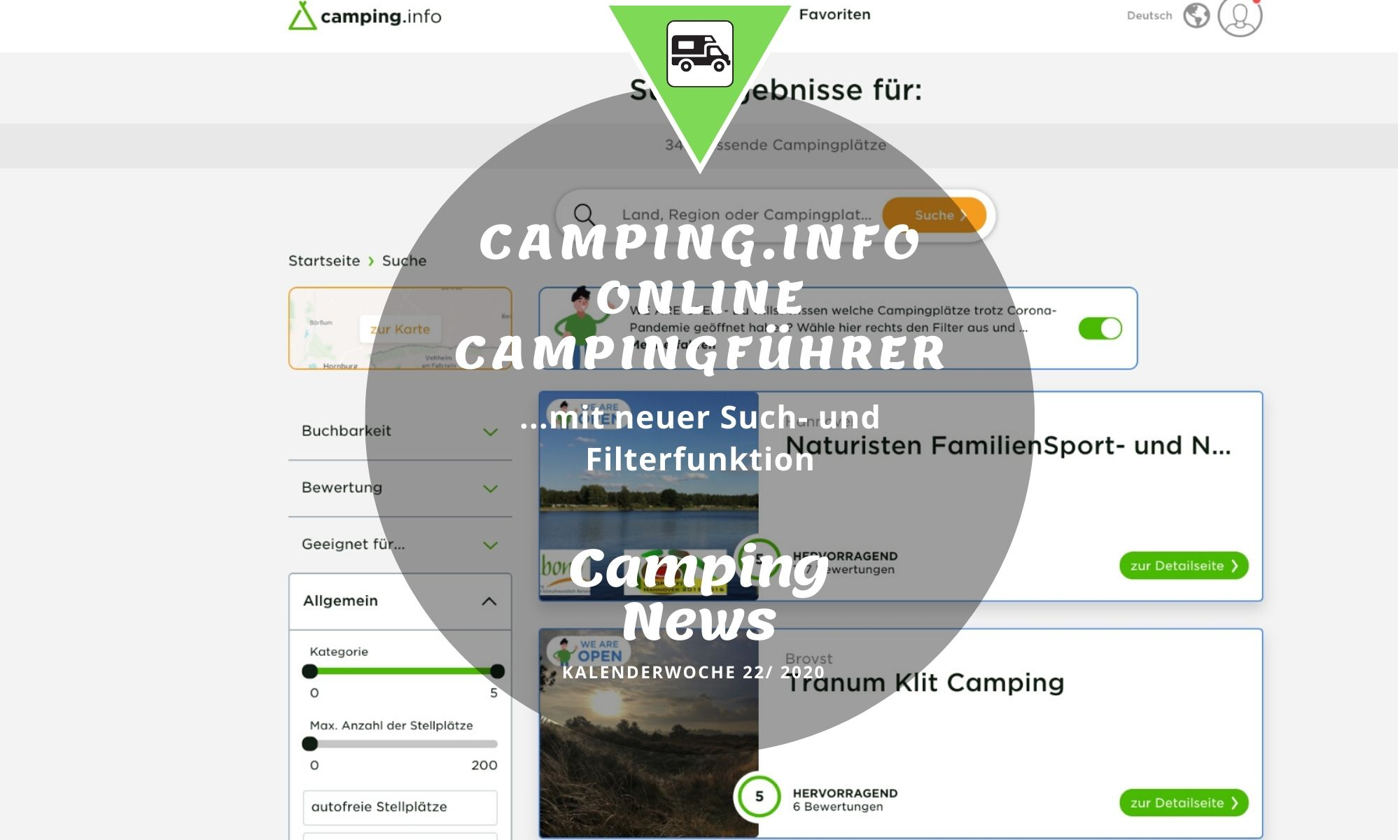 camping.info neue suchfunktion