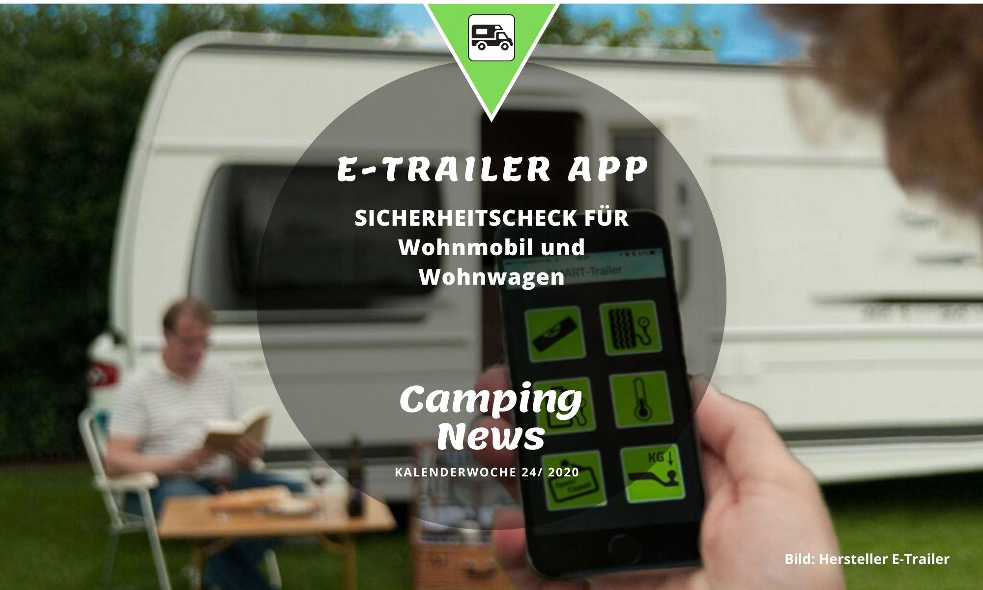 E-Trailer App für Wohnmobil und Wohnwagen