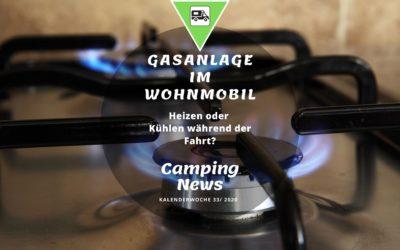 Die Gasanlage im Wohnmobil | Camping News Wochenrückblick – KW33/2020
