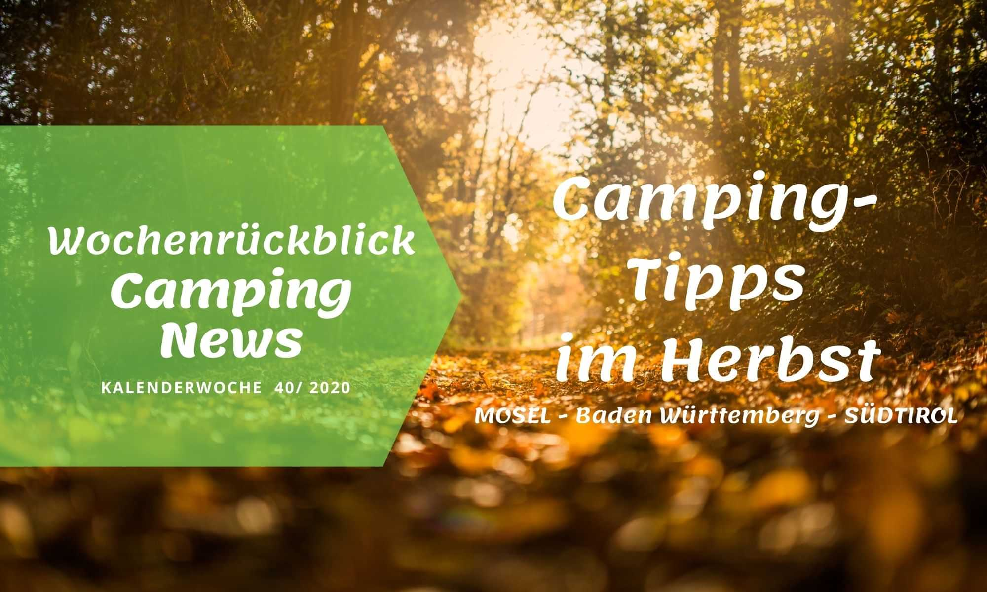 Camping-Tipps im Herbst