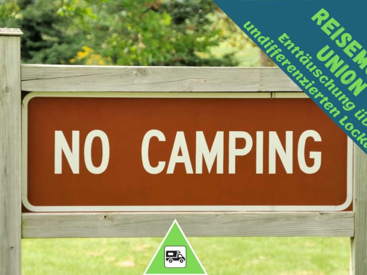 Reisemobil Union undifferenzierter Camping Lockdown