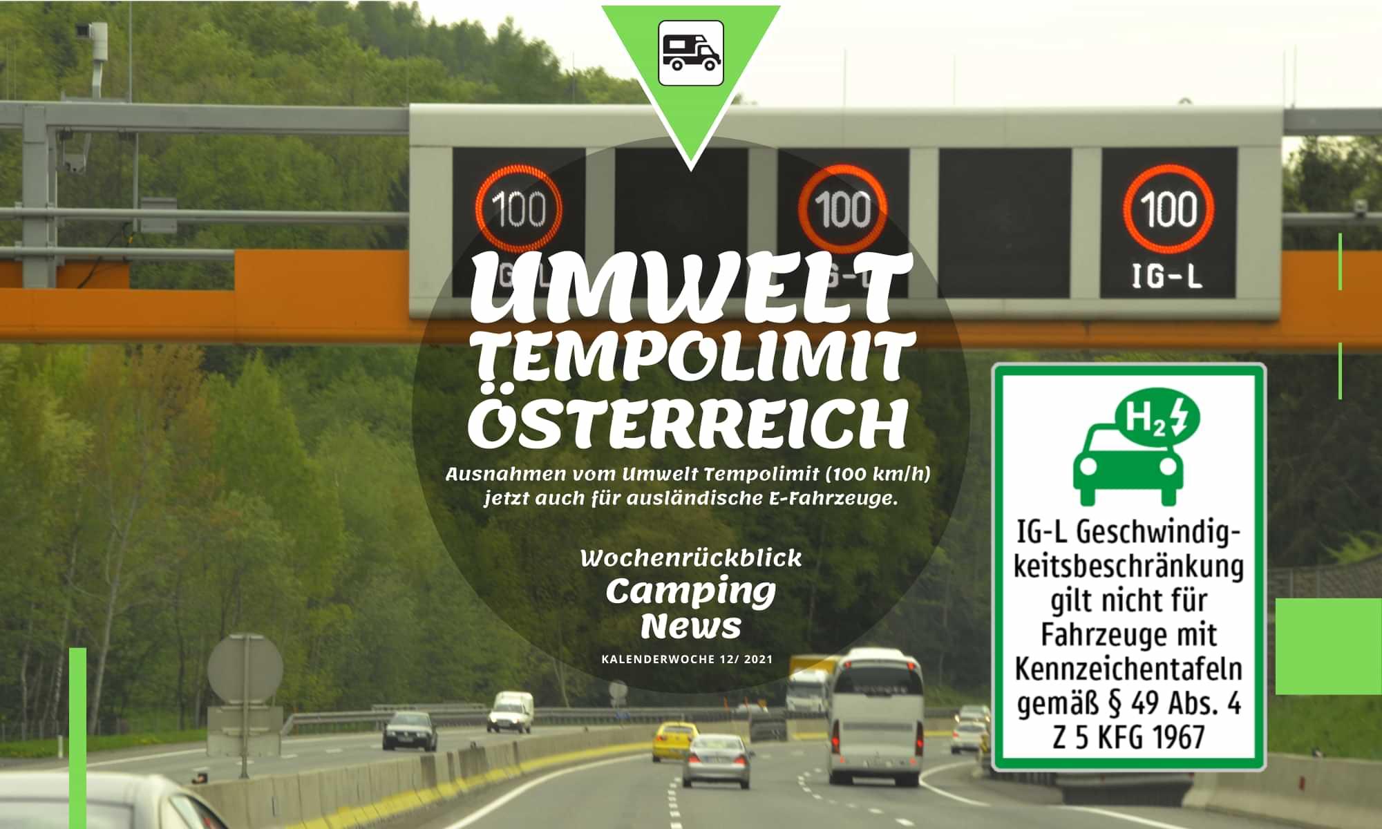 Umwelt Tempolimit Österreich für deutsche E-Fahrzeuge