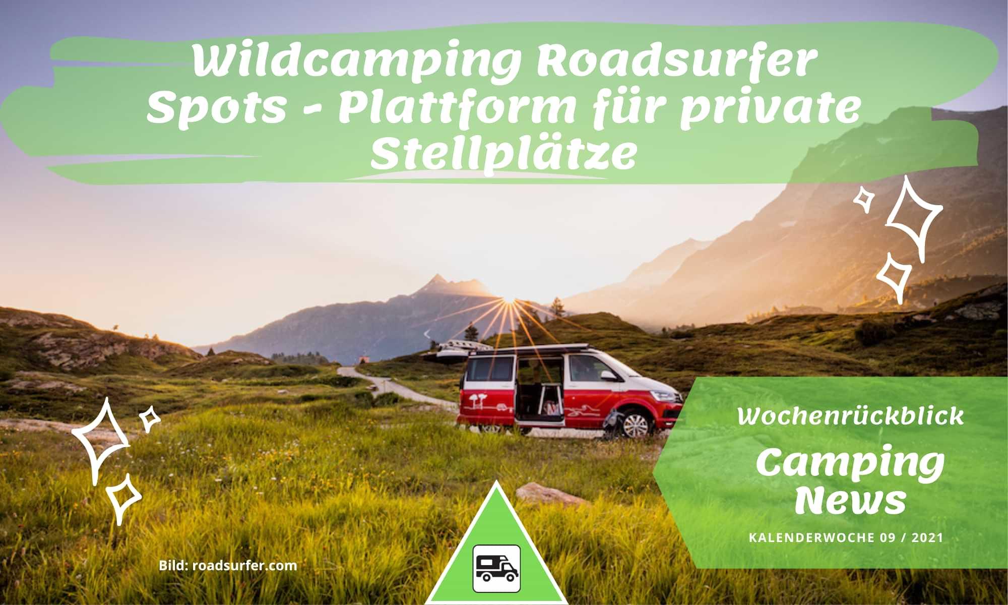 Wildcamping ganz legal mit Roadsurfer