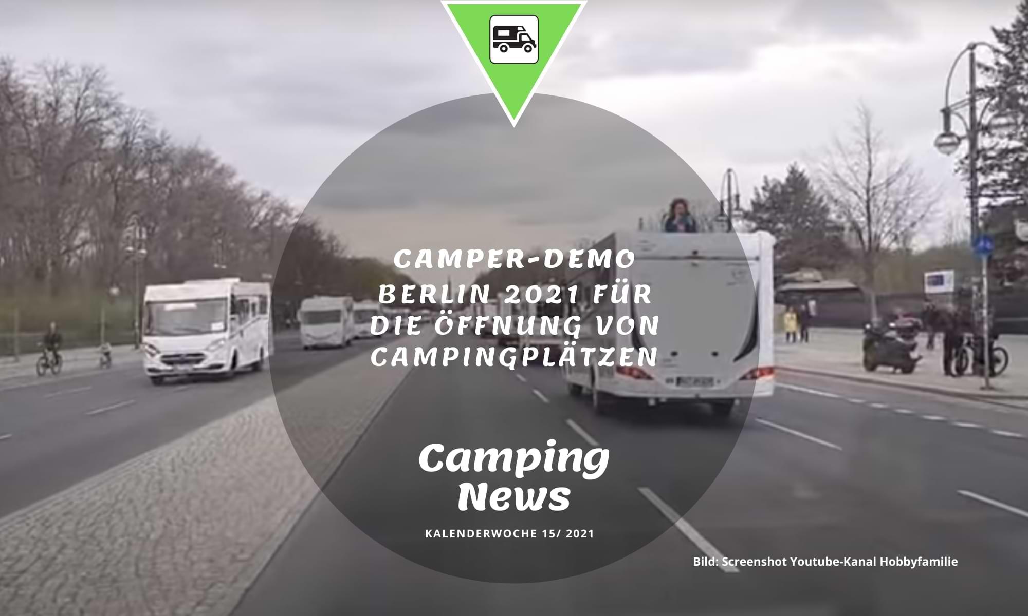 Campen mit Abstand – Camper-Demo in Berlin
