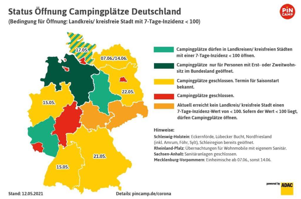 Campen in Deutschland 2021