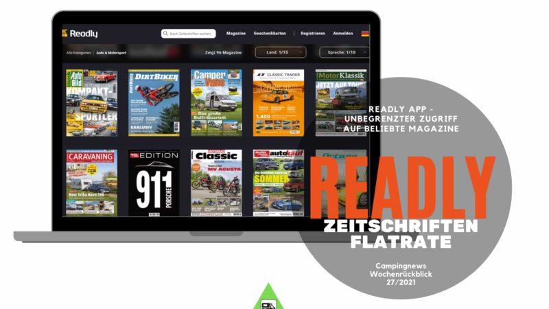 Readly App - Wochenrückblick Camping News KW27-2021
