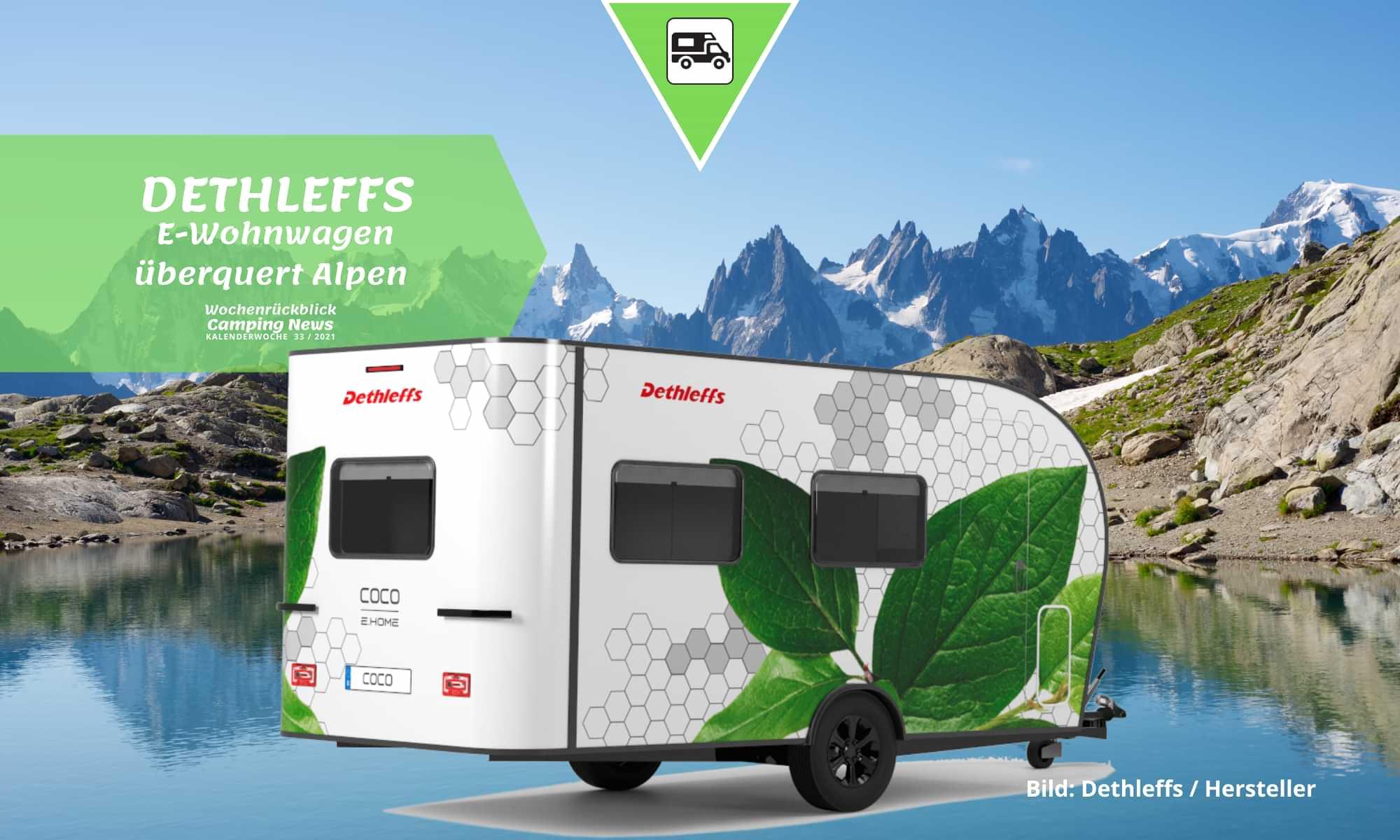 Alpenüberquerung mit einem Dethleffs E-Wohnwagen
