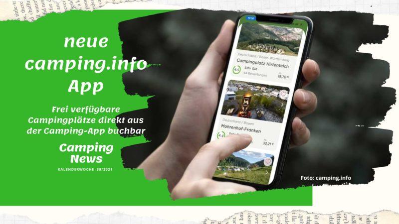Camping-App von campinginfo